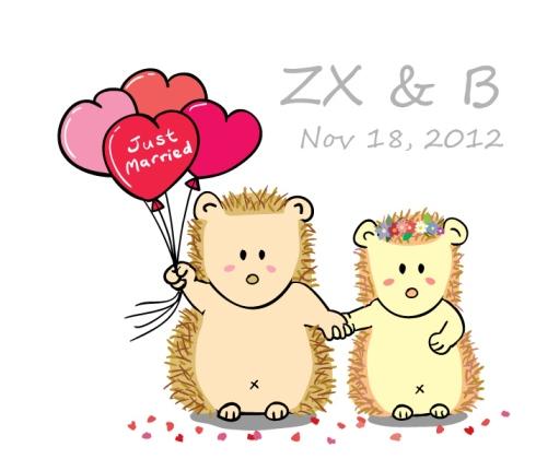 Cute Hedgehog Couple