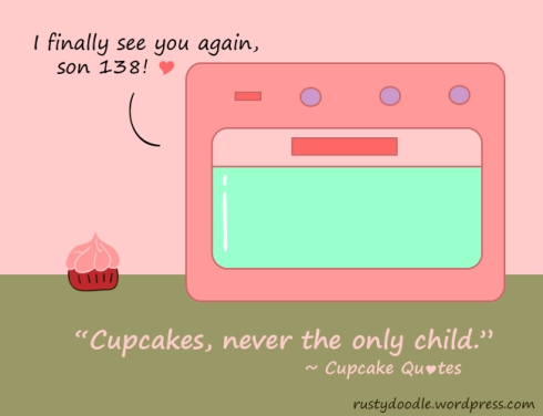 comic strip on cupcakes