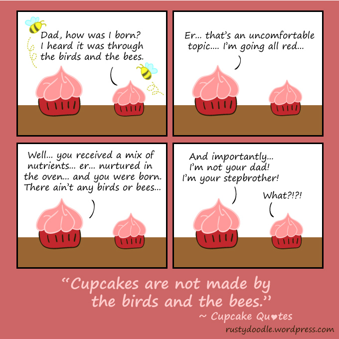 comic strip on the birds and the bees