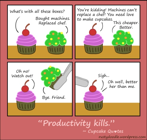Cupcake Comic Strip