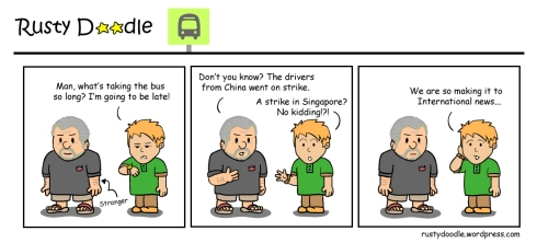 Comic Strip: Strike in Singapore