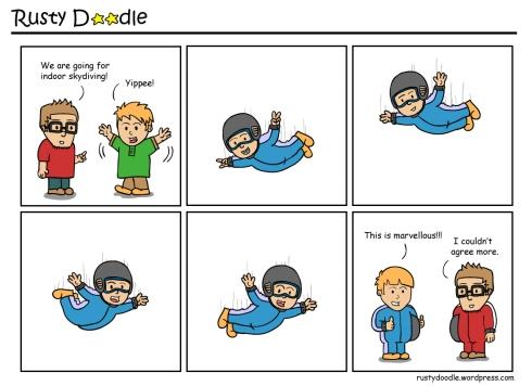 Comic Strip on Indoor Skydiving