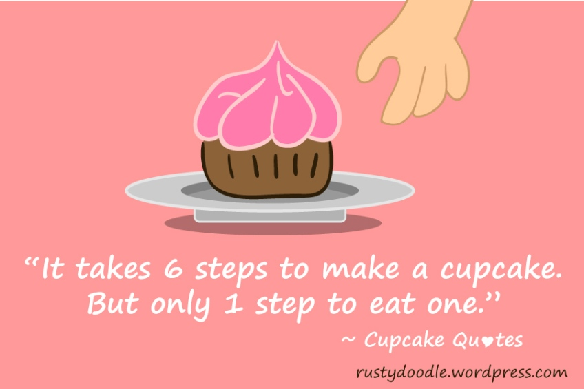 Cupcakes Quotes: Steps to eating a cupcake | Rusty Doodle