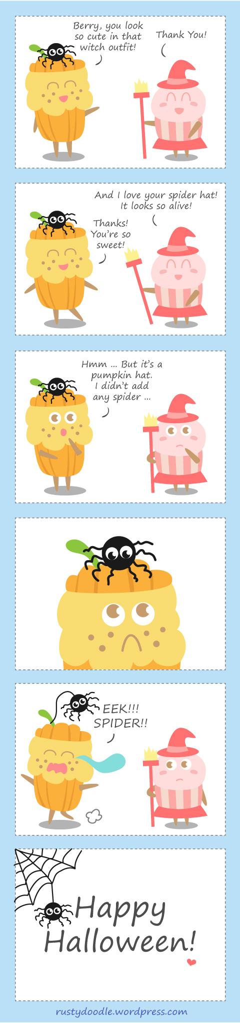 Cupcake Doodle - Happy Halloween