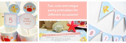 Underwater Themed Birthday Party Printables from mrpartyideas.com
