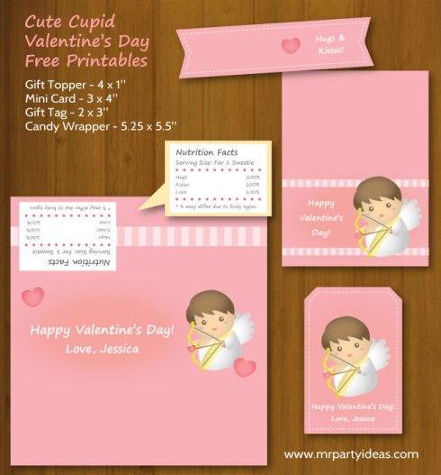 Cute Cupid Valentines Day Printables