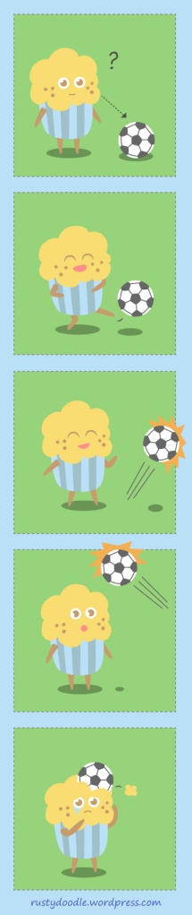 Cupcake Doodle - Cupcake and Soccer Ball