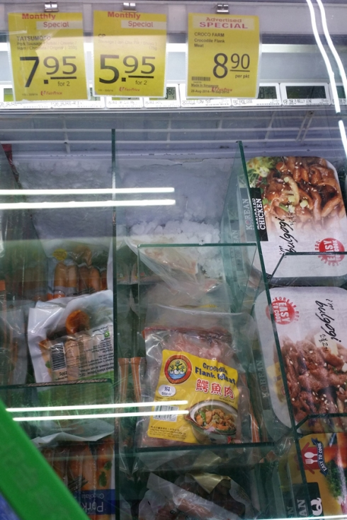 Crocodile Meat At A Supermarket