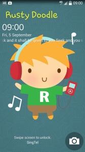 Rusty Doodle Phone Lock Screen
