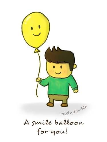 Rusty Doodle - Smile Balloon
