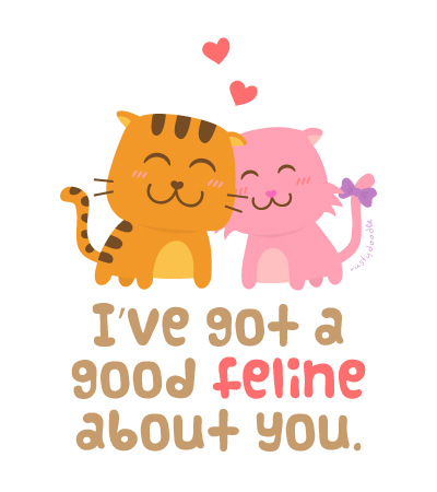Cute Cats Love Pun Humor
