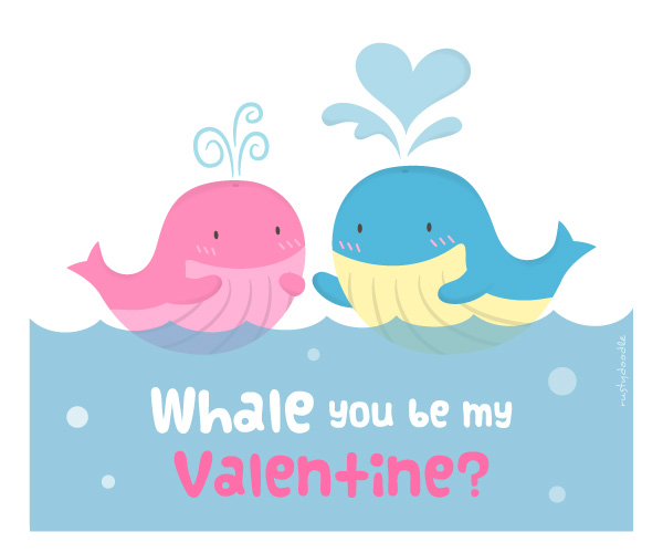 Außergewöhnlich Cute Whale Love Pun Humor