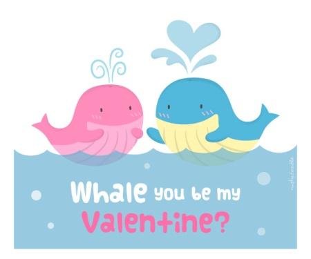 Cute Whale Love Pun Humor