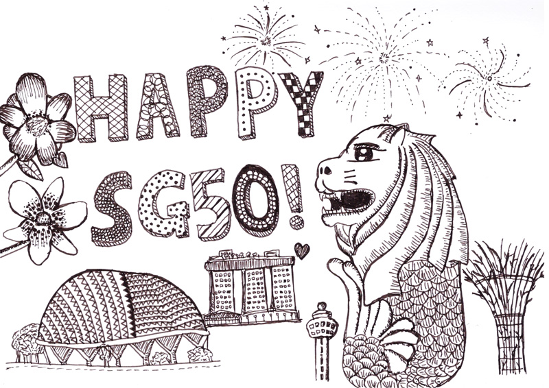 Singapore Merlion Head For - Free Coloring Pages